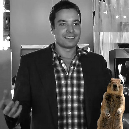 Jimmy Fallon and the Crasher Squirrel from Flickr via Wylio