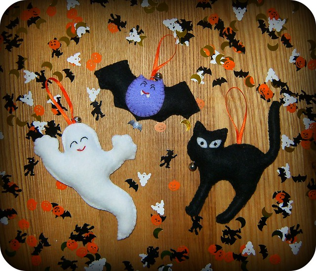 Adornos de fieltro para halloween felt decoration - Adornos de halloween ...