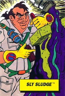 Sly Sludge - Captain Planet Dunkin Donuts Card - Front