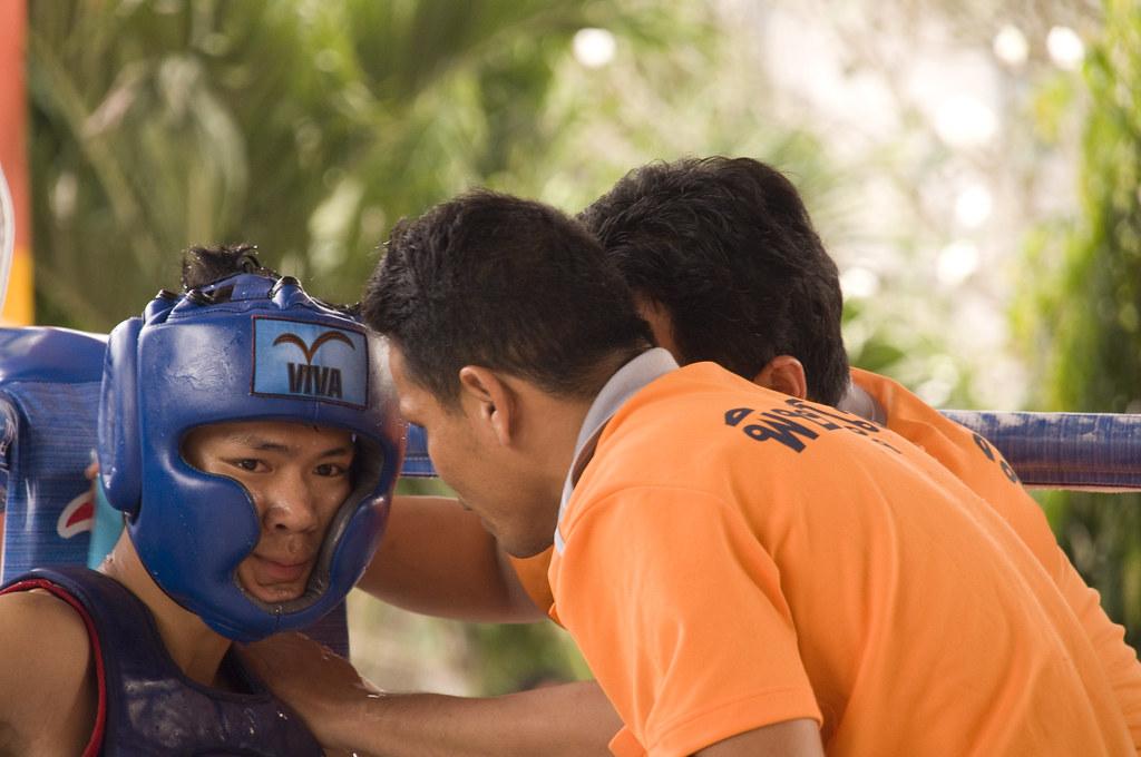 Thai boxing boxer