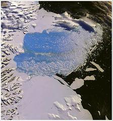 拉森 B 冰棚的崩塌,2002 年。(奧勒岡大學提供)
