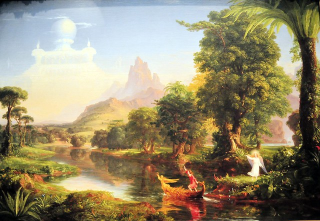 the life paintings and views of thomas cole Romantic artists favored painting scenes of nature due to its uncontrollable power, unpredictability & potential for extremes image: thomas cole - romantic landscape.