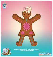 Kawaii Ginger Bread Cookie Girl Vector