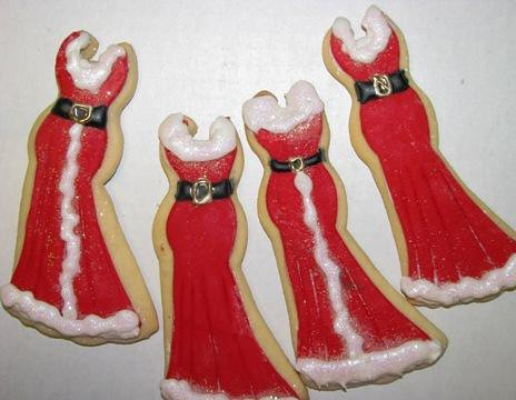 Red Christmas Dress Cookies