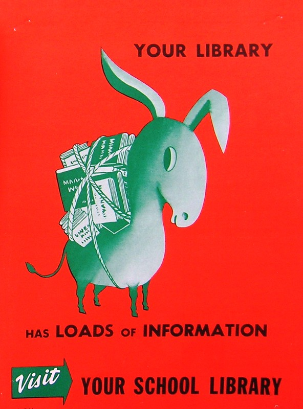 RETRO POSTER - Your Library Has Loads of Information