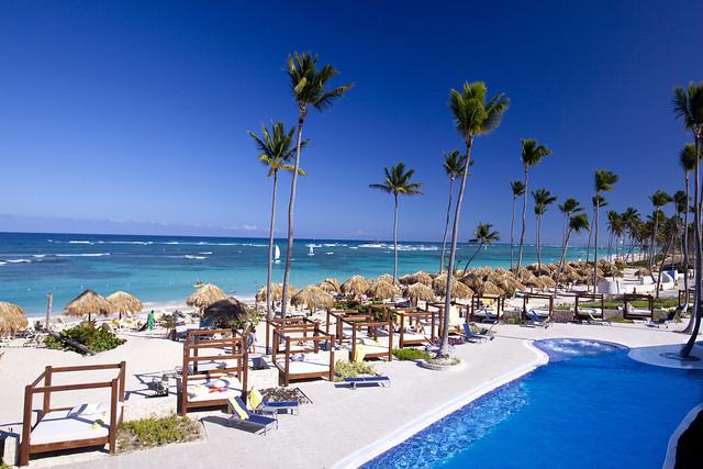 Udsigten fra Elegance Club OCEAN FRONT på Majestic Elegance Punta Cana