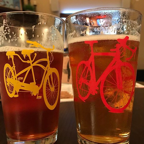 Valentine's Day beer and television. It's what happens with kids and weeknight holidays. . . #beer #valentines #roadbike #tandembike #newbelgium #lagunitas #television #love