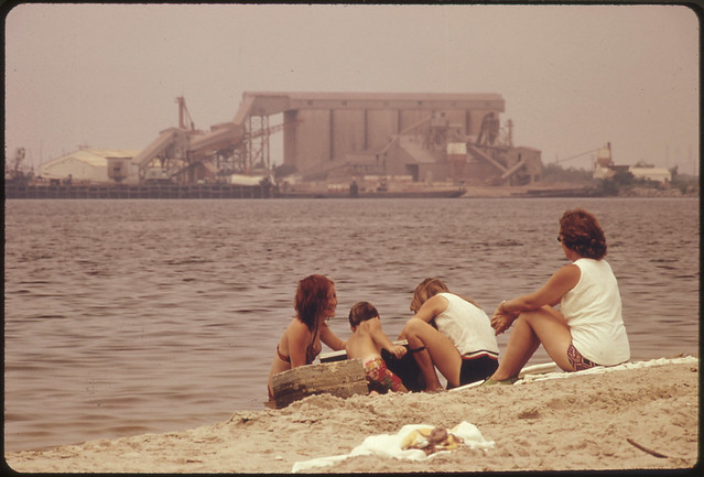 Documerica: Olin Mathieson Chemical Plant on Far Side of Lake Charles, Louisiana. 07/1972 by Marc St. Gil.