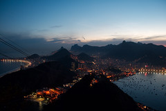 Night time view from Sugarloaf mountain