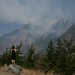 Mountain on fire near Lilloet