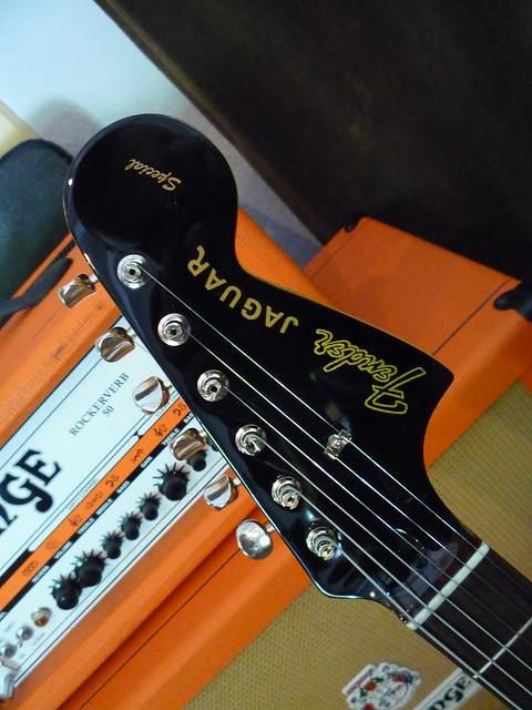 Photo:Fender Jaguar HH Headstock By Roadside Guitars