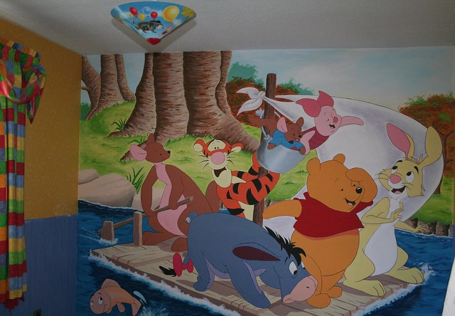 winnie the pooh wall mural a new house a new decorating. Black Bedroom Furniture Sets. Home Design Ideas