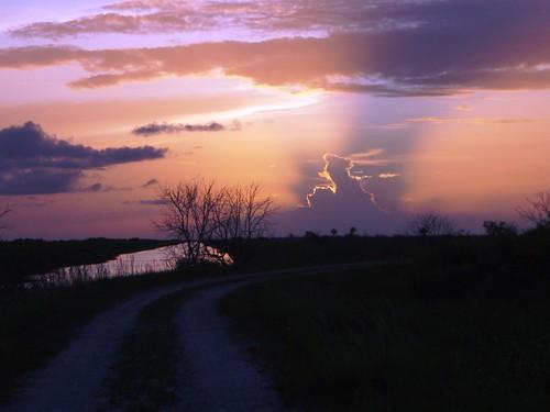 sunset usa florida eua everglades pôrdosol