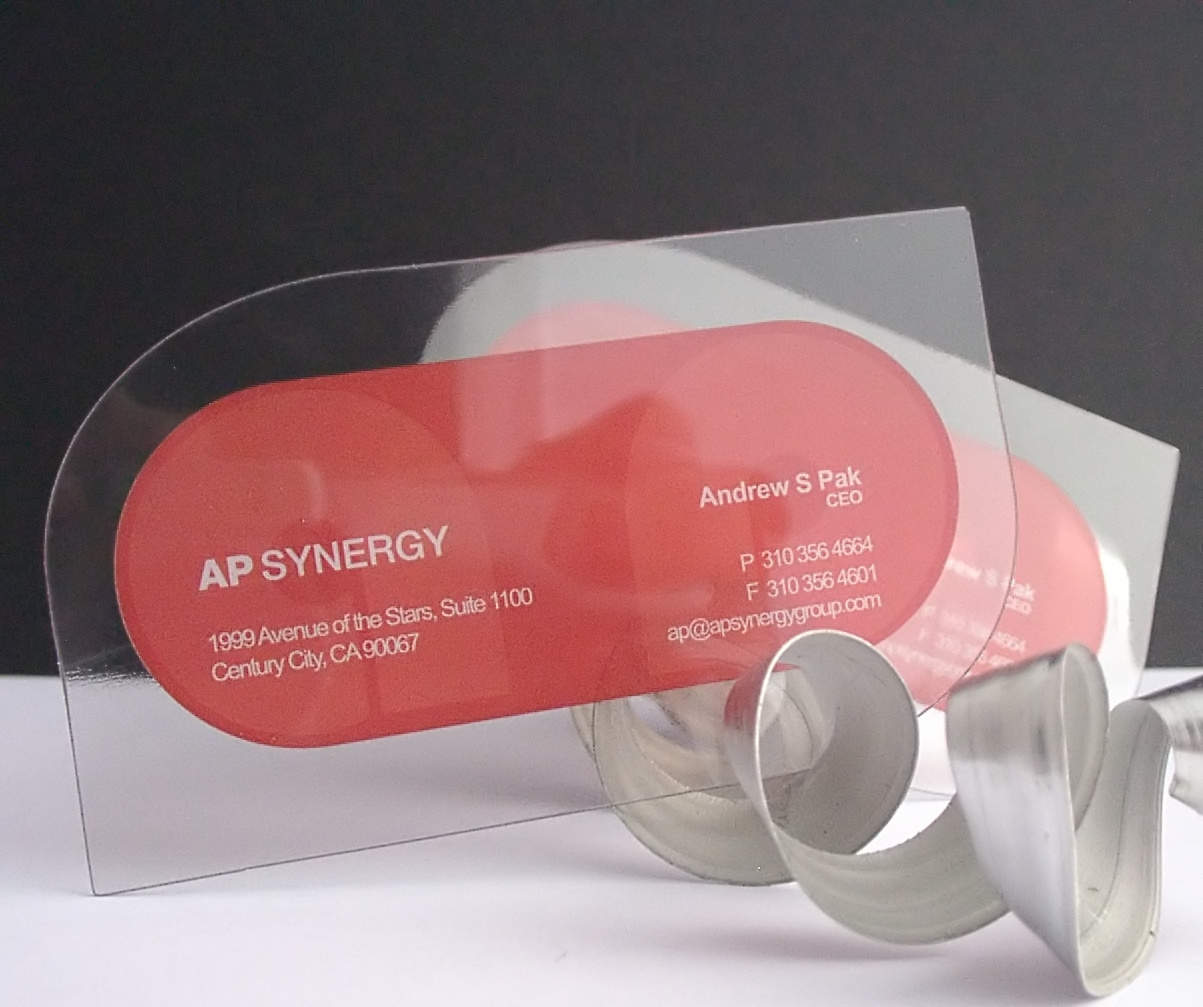 Clear plastic business cards flickr photo sharing for Business card plastic