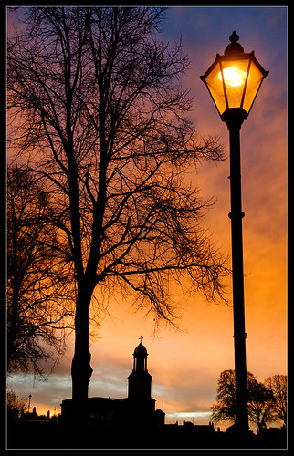 autumn sky orange tree lamp sunrise dawn nikon shropshire shrewsbury lampost quarrypark dapagroup stchadschurch dapagroupmeritaward dapagroupmeritaward1