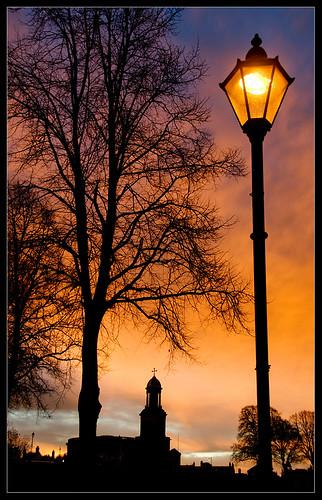 autumn sky orange tree lamp sunrise dawn nikon shropshire shrewsbury lampost quarrypark dapagroup stchadschurch dapagroupmeritaward dapagroupmeritaward1