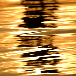 Spain - Barcelona - Port Vell Reflections - sq abstract
