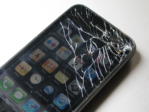Apple iPhone G3S destruction de la dalle tactile