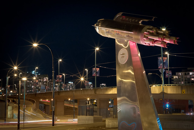 Launching over the Cambie Street Bridge
