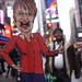 Sarah Palin going rouge in Time Square New York City
