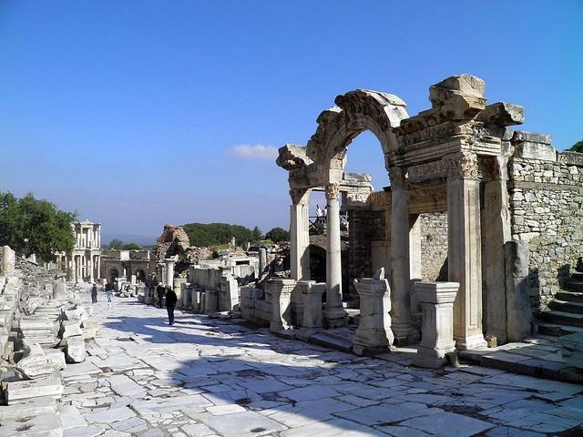 Curetes Street and the Temple of Hadrian, Ephesus, Turkey