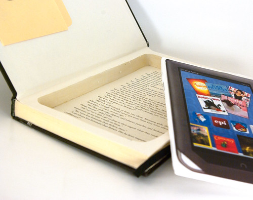 Kindle/ Nook Hollow Book Holder