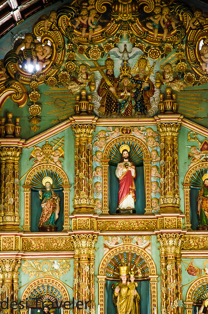 Frescoes Jesus Christ Champakulam Portuguese Church