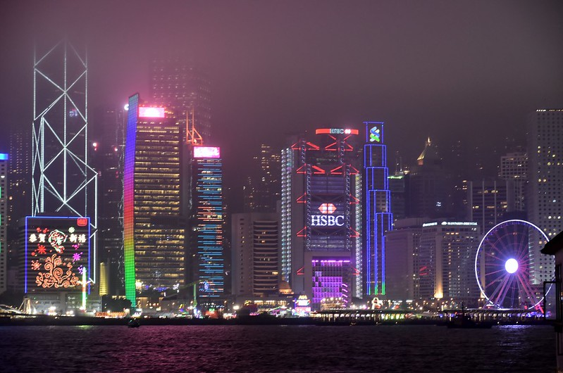 Hong Kong Island illuminated (4)