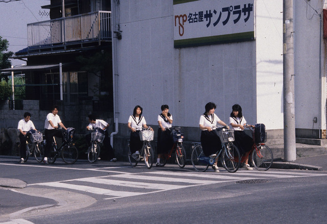 NIS Last Day - School kids Bikes by jondresner on flickr