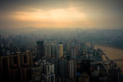 china city tower cityscape cbd chongqing 2009 1022mm jialing