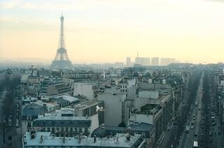 .6. //60g/1k/1797/54.f - Eiffel Tower from The Arc de Triomphe, Paris 1996