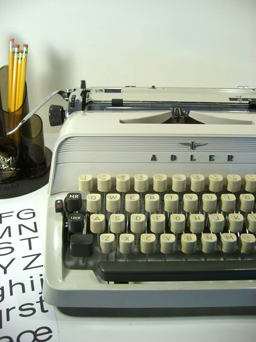 Vintage Adler J4 German Portable Typewriter