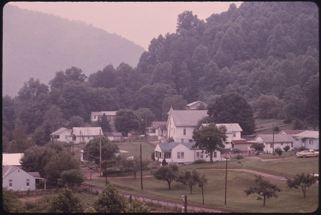 small country town not related to coal mining near the west virginia