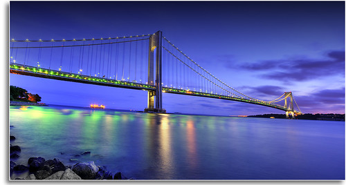 nyc newyorkcity longexposure sunset reflection brooklyn harbor nikon best atlantic statenisland bqe hdr verrazanonarrowsbridge verrazano forttotten newyorkcitymarathon vzb kevinwoods
