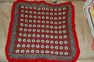 back of sleepy monkey blanket