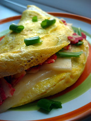 Veggie Bacon Omelette