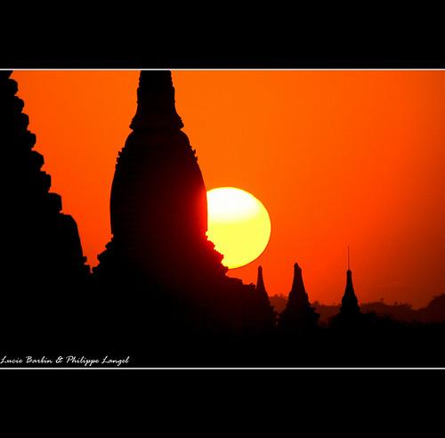 sunset sun soleil burma coucher sunsets myanmar philippe coucherdesoleil birmanie langel