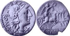 246/1 Denarius Numitoria Roma Victory quadriga C.NVMITORI