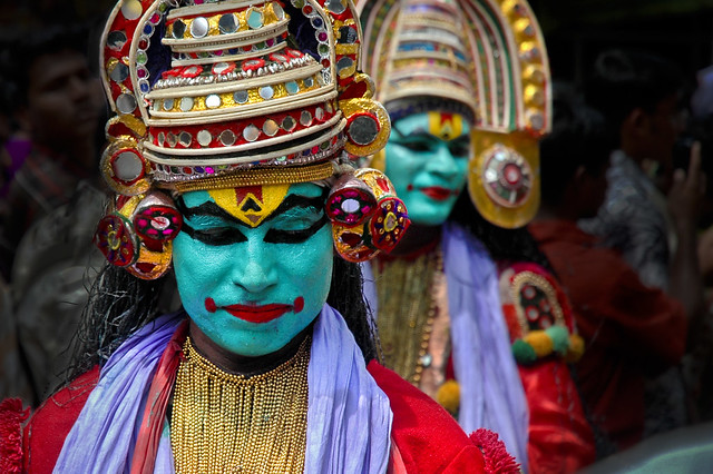 Onam in Kerala, Green Faces in Thought