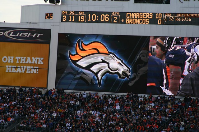 Denver Broncos Logo on the Big Screen
