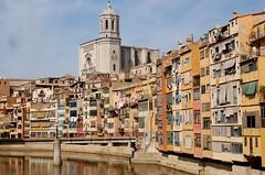 Cases de l'Onyar amb la Catedral, Girona