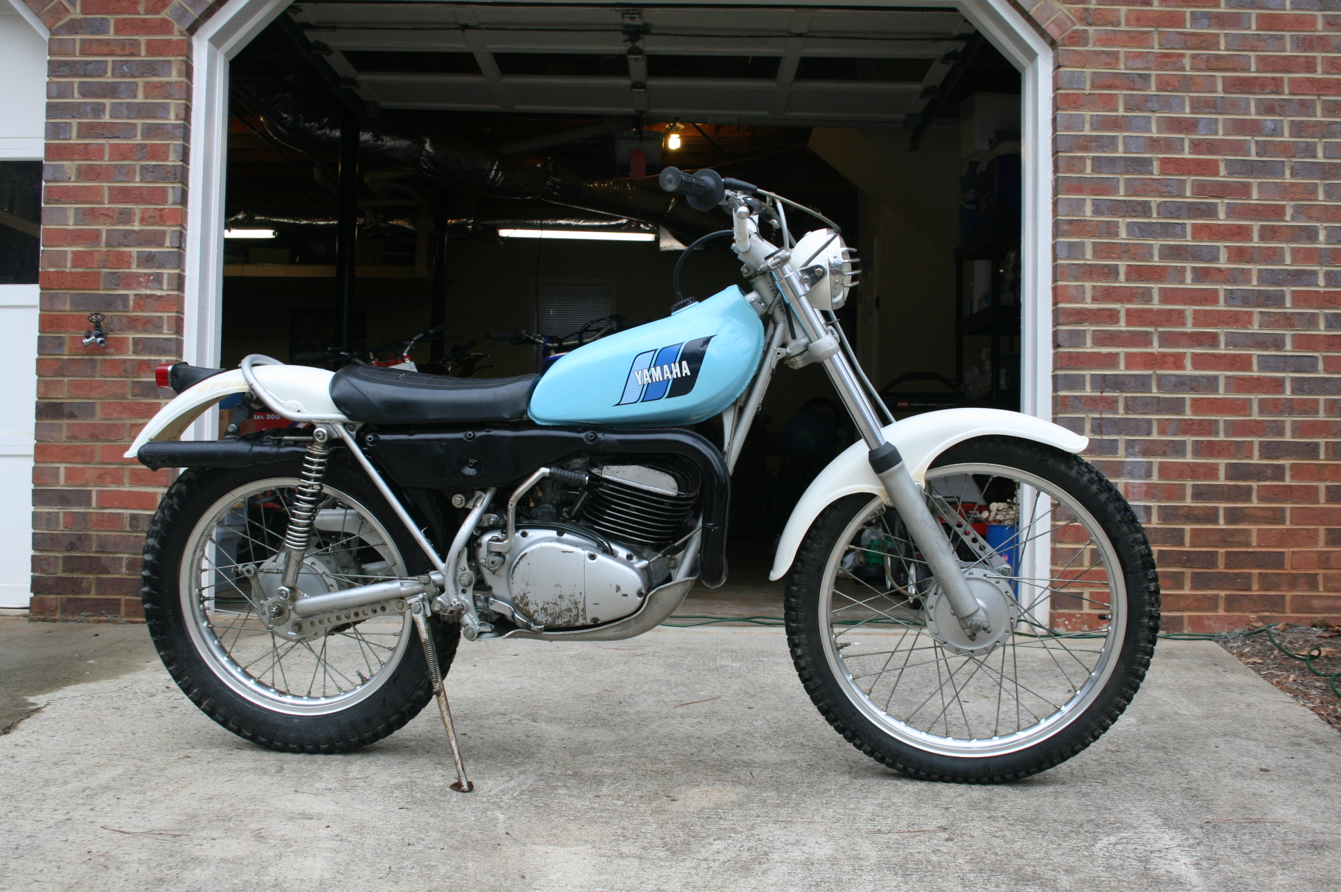 1977 yamaha ty 250 d trials bike right flickr photo. Black Bedroom Furniture Sets. Home Design Ideas