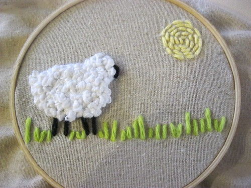 Flickr friday french knots crafty sheep