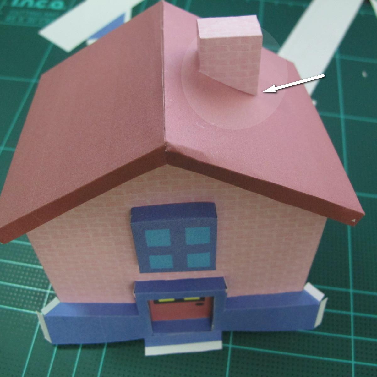 วิธีทำโมเดลกระดาษเป็นรูปบ้าน (Little House Papercraft Model) 012