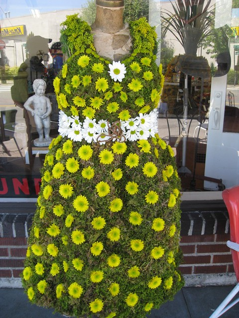 floral dress topiary