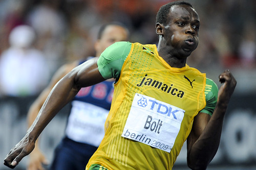 Usain Bolt the fastest man in the world