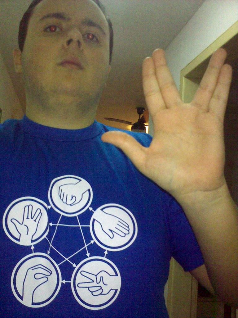 Camiseta Rock Paper Scissor Lizard Spock!
