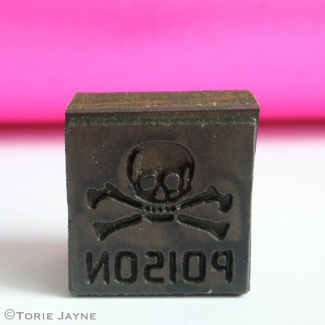 Vintage Poison Stamp