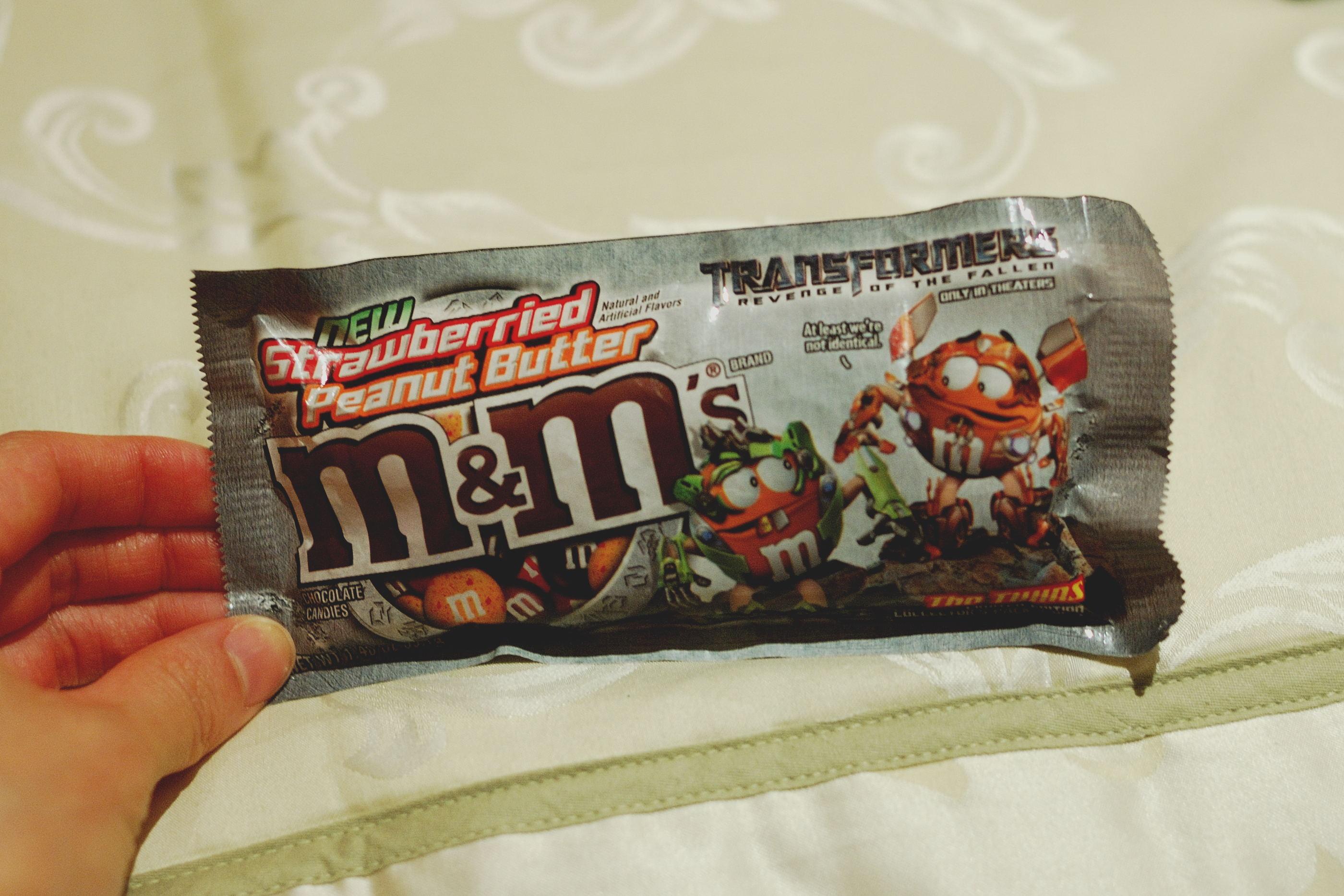 Strawberried Peanut Butter M&Ms