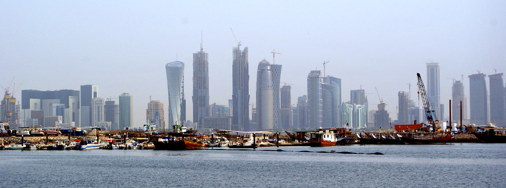 Corniche in Qatar And buildings